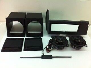 Kit Panda Nero mobili + casse +  mascherine + antenna interna NERO