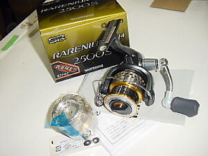 Shimano-09-Rarenium-CI4-2500S-Spinning-Reel-and-Spare-Spool-NIB