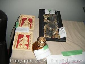 Votive Tray, Oil Lamp And More A