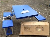 Folding Camping table and seats