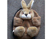 Childs Furry rabbit back pack brand new £3 + POSTAGE