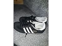 Adidas black and white size 3 and half trainers