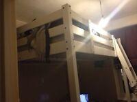 Loft Bed -double (Ikea STORÅ White Loft bed - 2 years old, plus mattress)