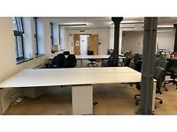 4 positions professional office workstation desk white table
