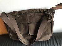 Brand New Brown Canvas Laptop Bag with shoulder strap