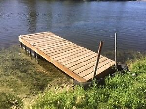Wooden Dock (over 10 feet long) with floats