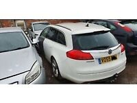 Vauxhall Insignia Estate Tailgate in White inc Glass 2009 - 2013 Ring for more info