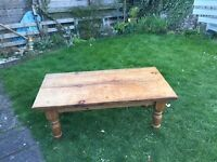 Solid pine coffee table - £60 - Aberdour