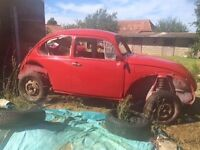 Classic VW Beetle 1972 Tax Exempt - unfinished project