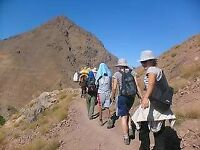 Volunteering in Morocco, trekking in the mountains of Marrakech