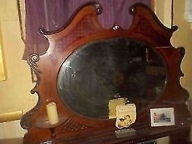 ANTIQUE MIRROR 150cm x 90cm ** CLACTON ON SEA - CO15 6AJ