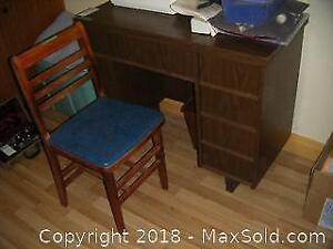 Sewing Table And Chair C