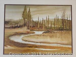 Large Painting by Mack Sloan Canadian Listed Artist