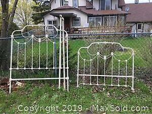 Antique Iron Double Bed B