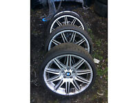 bmw e92 3 series nv4 19 inch alloy wheel set with tyres for sale call thanks