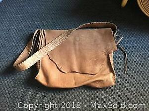 Moose Leather Saddle Bag By Aboriginal Canadian.