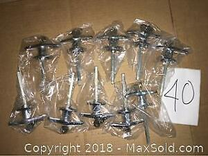 Lot of 10 Chrome T Handle Lock Set with 2 Keys. New