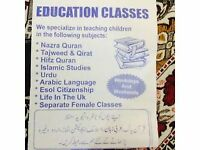 Female and male quran, Islamic studies and urdu home tuition