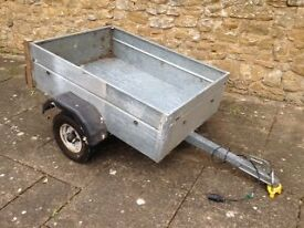 Car trailer for towing