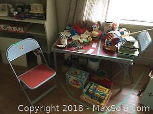 Children's Folding Table And Chairs B