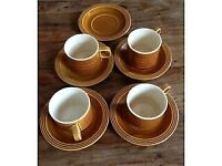 hornsea saffron cup and saucer brown