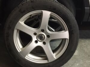 Winter tires and alloy rims Campbell River Comox Valley Area image 1