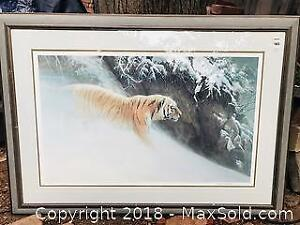 SIBERIAN NIGHT TIGER ROBERT BATEMAN SIGNED AND NUMBERED PRINT 80/1500