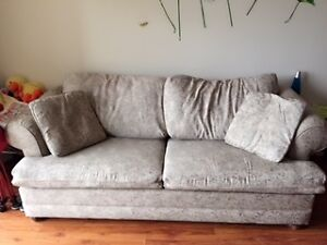 Queen Sofa Bed+computer chair-Pick up only London Ontario image 1