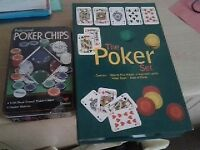 'The Poker Set' + Tin of 100 duel toned poker chips. Brand new. £9.