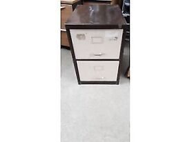 2 Drawer Brown Filing Cabinet- Key Is Not Supplied
