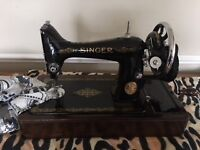Singer hand operated sewing machine