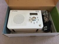 PURE ONE Classic, White Portable DAB/FM Radio