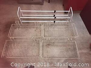 Shoe Rack And Wire Baskets