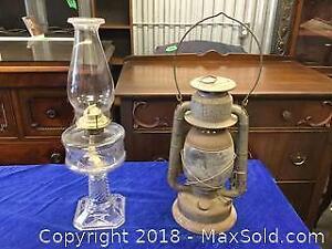 Antique Oil Lantern and Lamp