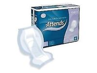 REDUCED * Attends Contours Regular 6 Incontinence Pads - Pack of 35 NEW / SEALED - CLACTON - CO15