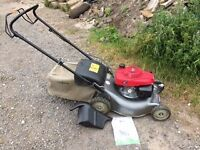 Honda 18 inch self propelle lawn mower with multching blade and box
