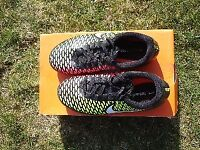 Football boots, NIKE Magista Onda, UK size 2, Black/neon, Exc condition