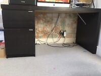Ikea Malm Desk (Black-Brown)