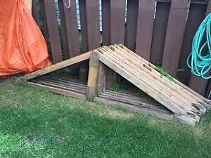 8 Wooden Roof Trusses for a Gazebo or Garden Shed