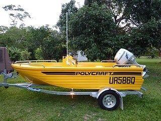 Polycraft boat 4.1m centre console
