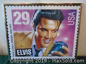 Elvis Poster of a His Stamp
