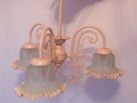Pink chandalier ceiling light