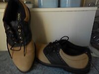 For Sale = pair of Gents Golf Shoes, size 8 Dunlop Dry-leather