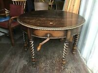A VINTAGE/ANTIQUE VICTORIAN OAK 4 SEATER DINING TABLE NICE PRE-LOVED CONDITION FREE DELIVERY