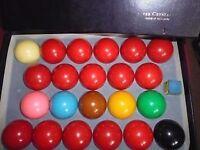 Belgium crystal set snooker balls