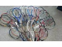 Tennis rackets... clothing...balls...shoes......equipment etc....