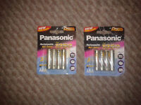 Panasonic rechargeable 1350mah batteries for sale £5 for 2packs digital cameras etc new sealed
