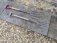 Ladies & Gents Garden forks