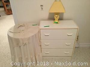 Lamp, Dresser And Side Table C