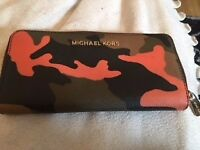 Michael Kors Purse in Orange and Brown cow hide pattern
